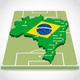 Χάρτης 2014 Παγκόσμιου Κυπέλλου διανυσματική απεικόνιση