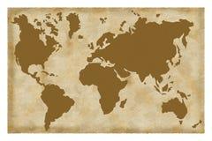 χάρτης παλαιός Στοκ Εικόνα