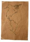 χάρτης παλαιός Στοκ εικόνα με δικαίωμα ελεύθερης χρήσης