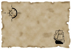 χάρτης παλαιός Στοκ εικόνες με δικαίωμα ελεύθερης χρήσης