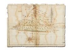 χάρτης παλαιός Στοκ Φωτογραφία