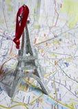 χάρτης Παρίσι Στοκ Φωτογραφία