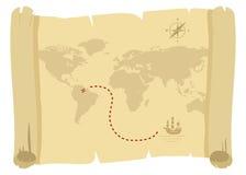 Χάρτης πειρατών απεικόνιση αποθεμάτων