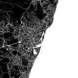 Χάρτης περιοχής Recife, Βραζιλία ελεύθερη απεικόνιση δικαιώματος