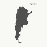 Χάρτης περιλήψεων της Αργεντινής απεικόνιση Στοκ εικόνες με δικαίωμα ελεύθερης χρήσης