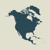 Χάρτης περιλήψεων της Βόρειας Αμερικής απεικόνιση Στοκ εικόνα με δικαίωμα ελεύθερης χρήσης