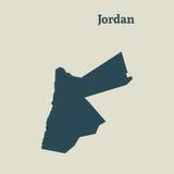 Χάρτης περιλήψεων της Ιορδανίας απεικόνιση Στοκ Εικόνες