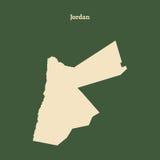 Χάρτης περιλήψεων της Ιορδανίας απεικόνιση Στοκ Εικόνα