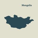 Χάρτης περιλήψεων της Μογγολίας απεικόνιση Στοκ εικόνα με δικαίωμα ελεύθερης χρήσης