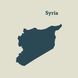 Χάρτης περιλήψεων της Συρίας απεικόνιση Στοκ εικόνα με δικαίωμα ελεύθερης χρήσης