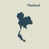 Χάρτης περιλήψεων της Ταϊλάνδης απεικόνιση Στοκ Εικόνες