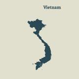 Χάρτης περιλήψεων του Βιετνάμ απεικόνιση Στοκ φωτογραφίες με δικαίωμα ελεύθερης χρήσης