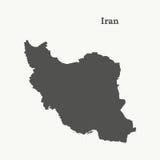 Χάρτης περιλήψεων του Ιράν απεικόνιση Στοκ Εικόνες