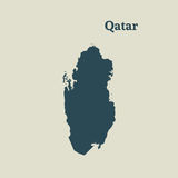 Χάρτης περιλήψεων του Κατάρ απεικόνιση Στοκ Φωτογραφία