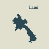 Χάρτης περιλήψεων του Λάος απεικόνιση Στοκ φωτογραφία με δικαίωμα ελεύθερης χρήσης