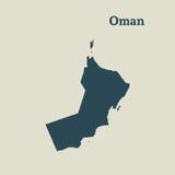 Χάρτης περιλήψεων του Ομάν απεικόνιση Στοκ Εικόνες