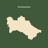 Χάρτης περιλήψεων του Τουρκμενιστάν απεικόνιση Στοκ Φωτογραφία