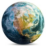 Χάρτης πλανήτη Γη στοκ φωτογραφίες με δικαίωμα ελεύθερης χρήσης