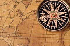 χάρτης πυξίδων παλαιός Στοκ εικόνες με δικαίωμα ελεύθερης χρήσης