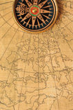 χάρτης πυξίδων παλαιός Στοκ φωτογραφία με δικαίωμα ελεύθερης χρήσης