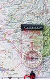 χάρτης πυξίδων Στοκ Φωτογραφίες