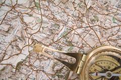 χάρτης πυξίδων Στοκ φωτογραφίες με δικαίωμα ελεύθερης χρήσης