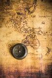 χάρτης πυξίδων παλαιός Στοκ Φωτογραφία