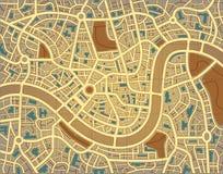 χάρτης πόλεων ανώνυμος διανυσματική απεικόνιση