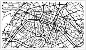 Χάρτης πόλεων του Παρισιού Γαλλία στο γραπτό χρώμα Στοκ φωτογραφίες με δικαίωμα ελεύθερης χρήσης