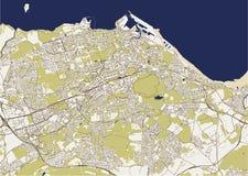 Χάρτης πόλη του Εδιμβούργου, Σκωτία, Ηνωμένο Βασίλειο ελεύθερη απεικόνιση δικαιώματος