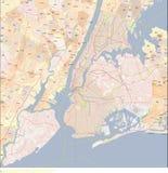 Χάρτης πόλεων της Νέας Υόρκης Στοκ εικόνα με δικαίωμα ελεύθερης χρήσης