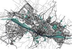 Χάρτης πόλεων της Φλωρεντίας, Ιταλία απεικόνιση αποθεμάτων