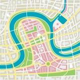 Χάρτης πόλεων Στοκ Εικόνα