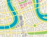 Χάρτης πόλεων Στοκ Φωτογραφία
