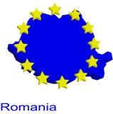 χάρτης Ρουμανία περιγράμμα& Στοκ Φωτογραφίες