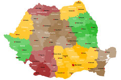 χάρτης Ρουμανία Στοκ φωτογραφίες με δικαίωμα ελεύθερης χρήσης