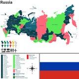 χάρτης Ρωσία Στοκ εικόνες με δικαίωμα ελεύθερης χρήσης