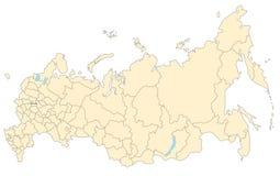 χάρτης Ρωσία Στοκ Εικόνες
