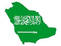 χάρτης Σαουδάραβας της Αραβίας διανυσματική απεικόνιση