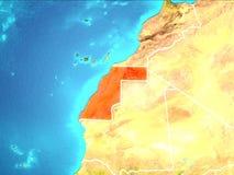 χάρτης Σαχάρα δυτική διανυσματική απεικόνιση