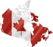 χάρτης σημαιών του Καναδά στοκ φωτογραφία με δικαίωμα ελεύθερης χρήσης