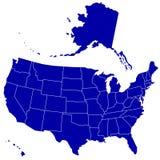 Χάρτης σκιαγραφιών των ΗΠΑ Στοκ φωτογραφίες με δικαίωμα ελεύθερης χρήσης
