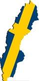 χάρτης Σουηδία σημαιών Στοκ εικόνες με δικαίωμα ελεύθερης χρήσης