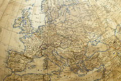 χάρτης σφαιρών της Ευρώπης Στοκ Φωτογραφία