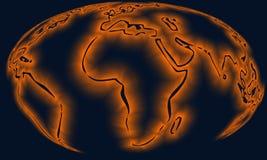 χάρτης σφαιρών Στοκ φωτογραφίες με δικαίωμα ελεύθερης χρήσης