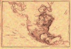 χάρτης σχεδίου ανασκόπησ&et Στοκ Φωτογραφία