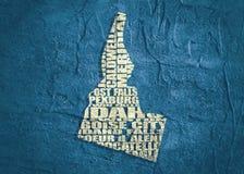 Χάρτης σύννεφων λέξης του κράτους του Αϊντάχο ελεύθερη απεικόνιση δικαιώματος
