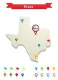 χάρτης Τέξας ελεύθερη απεικόνιση δικαιώματος
