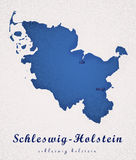 Χάρτης τέχνης του Σλέσβιχ-Χολστάιν Γερμανία Στοκ Εικόνες