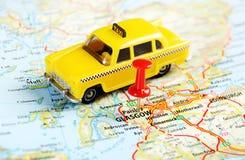 Χάρτης ταξί της Γλασκώβης Σκωτία Στοκ Φωτογραφία